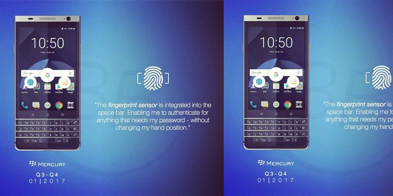 "Inikah Rupa BlackBerry Mercury Dengan ""Keyboard"" Fisik?"