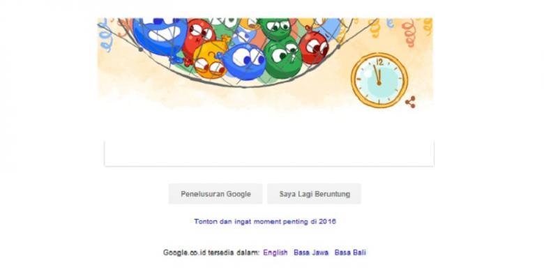 Malam Tahun Baru, Ada Gerombolan Balon Di Mesin Pencari Google