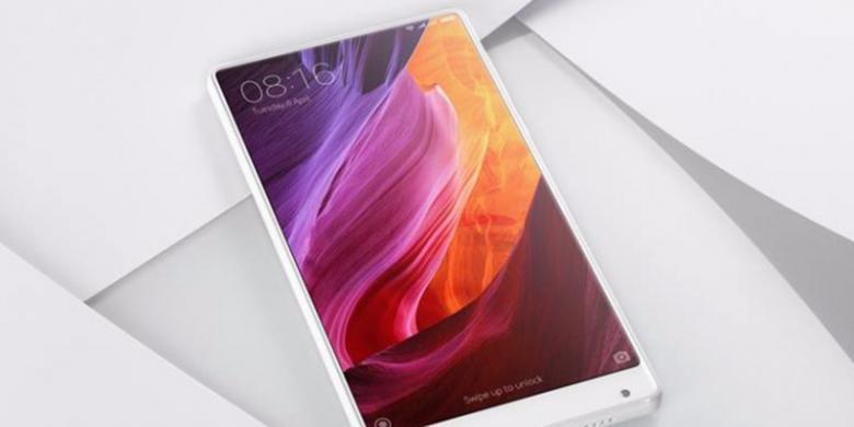 Xiaomi Perkenalkan Ponsel Tanpa Bezel Mi Mix Warna Putih