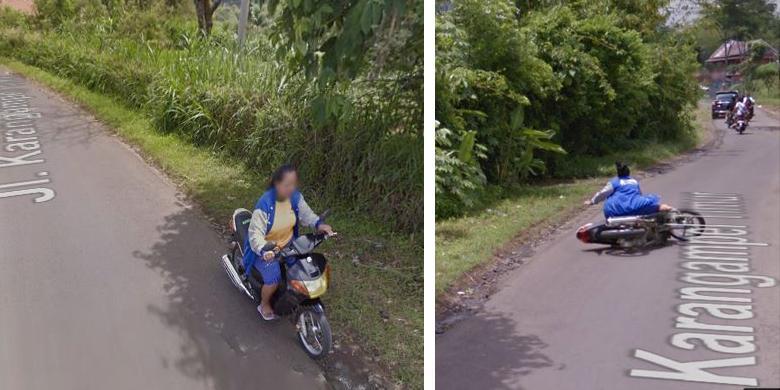 Kamera Google Rekam Seorang Ibu Jatuh dari Motor
