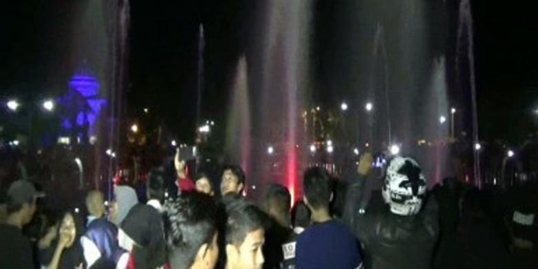 Air Mancur Ala Singapura, Obyek Wisata Baru Di Polewali Mandar