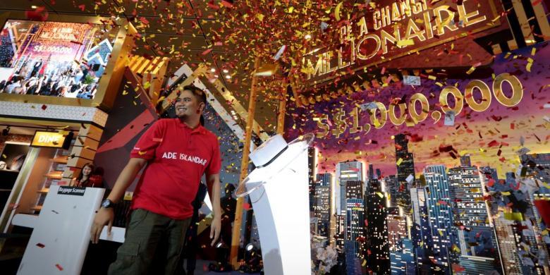 Inilah Ade Iskandar, Pemenang Rp 9,3 Miliar Dari Bandara Changi