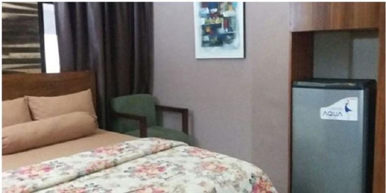 Interior kamar kos bertarif Rp 4 juta per bulan.