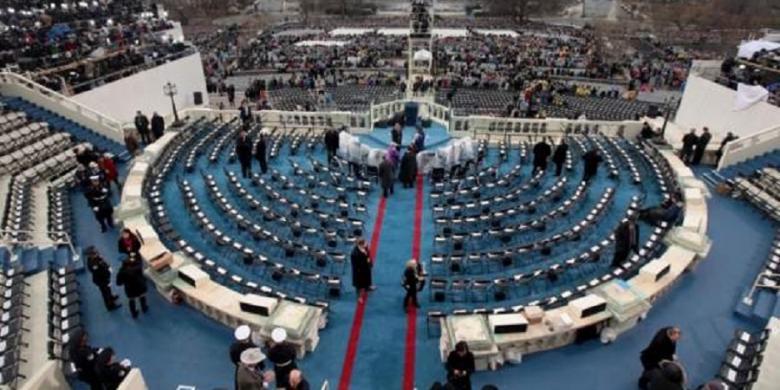 CNN  Tempat upacara pelantikan presiden terpilih AS, Donald Trump dan wakilnya Mike Pence, di Gedung Capitol, Washington DC.