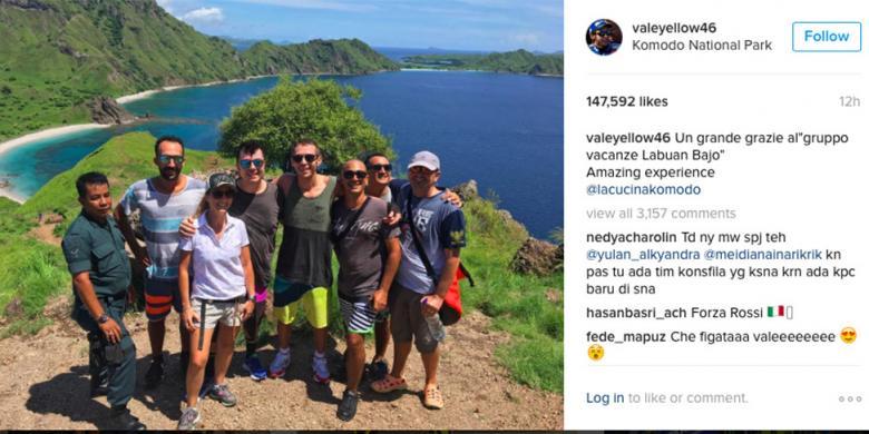 Foto yang diunggah Rossi di Instagram. INSTAGRAM/@VALEYELLOW46