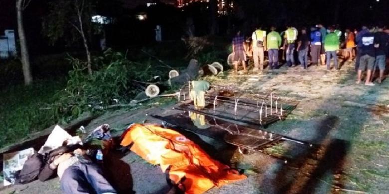 Blogger Tewas Tertimpa Pohon Tumbang Di Depok