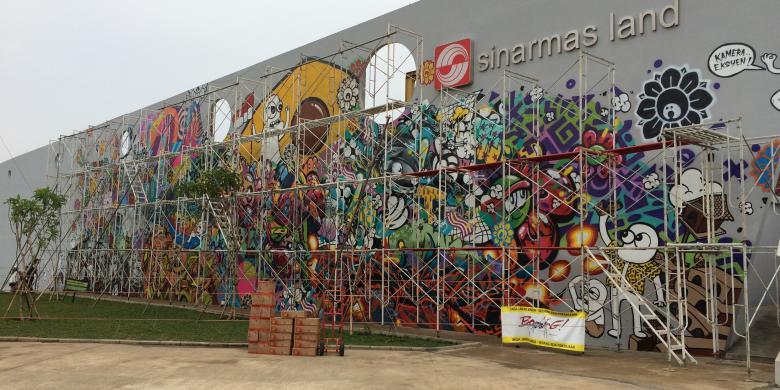 Begini progres pembuatan mural kalijodo yang hampir for Mural kalijodo