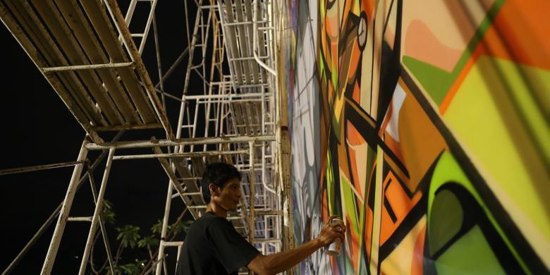 Percantik rptra artsip jakarta berikan workshop for Mural kalijodo