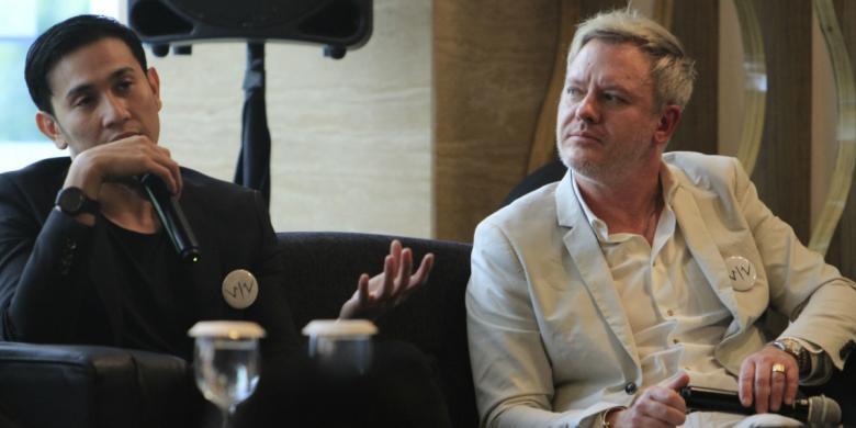 President of Fox International Productions Tomas Jegeus dan Vino G Bastian in a press conference for Wiro Sableng. Image: Kompas