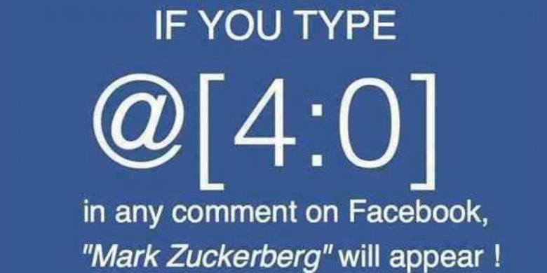 Mengapa Ketik @[4:0] Di Facebook Memunculkan Nama Mark Zuckerberg?