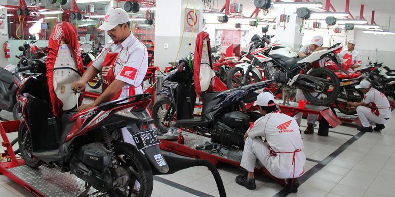 Honda Jawa Barat Servis 1.260 Unit Motor Per Bulan
