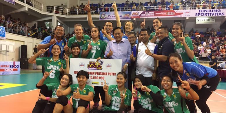 Tim Putri Jakarta Elektrik Juara Putaran Pertama Proliga 2017