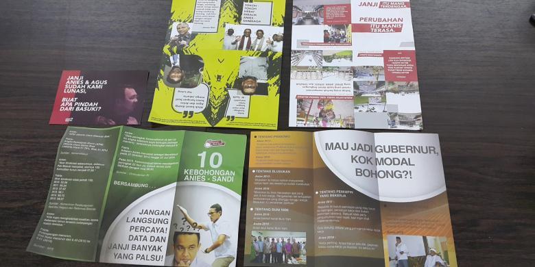 """Panwas Temukan 2 Truk Brosur """"Balck Campaign"""" Terhadap Anies-Sandi"""
