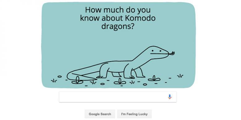 Mengapa Ada Komodo Di Google Doodle Hari Ini?