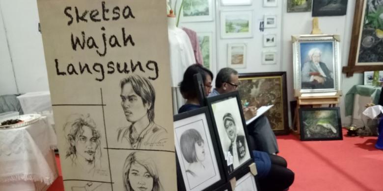 Ingin Dilukis Sketsa Wajah? Silakan Ke Bekasi Expo