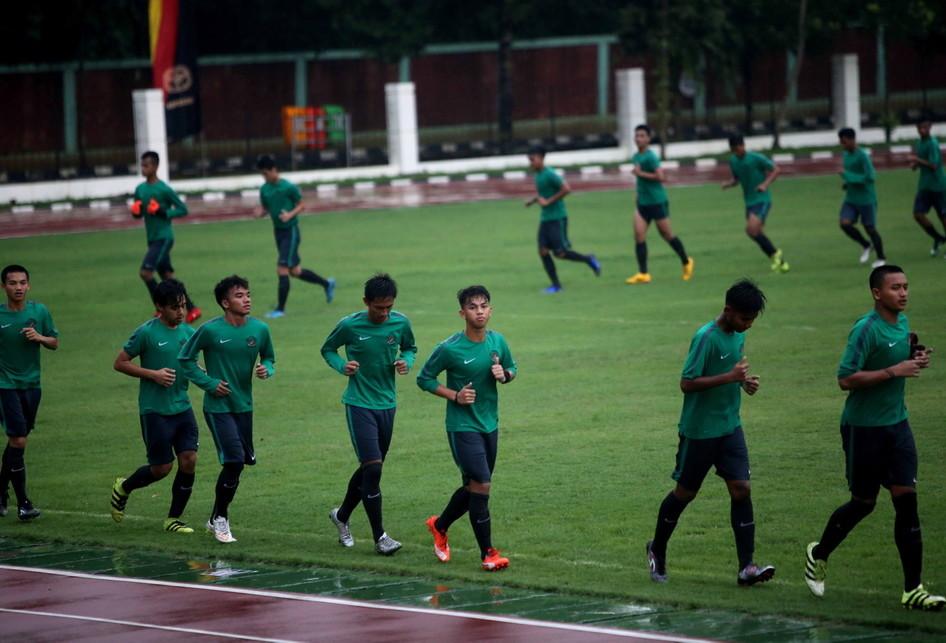 Latihan Timnas Indonesia U-18 Jelang AFF di Myanmar