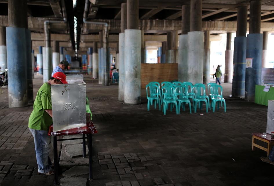 Pilkada DKI Jakarta Pencoblosan di TPS