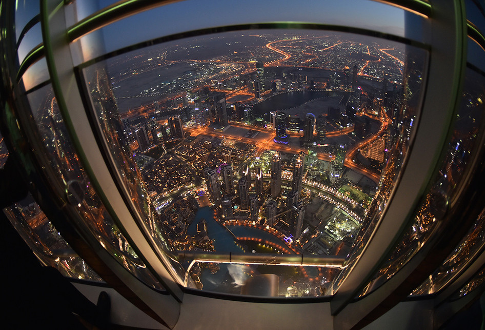 Pemandangan Kota Dubai dari Burj Khalifa