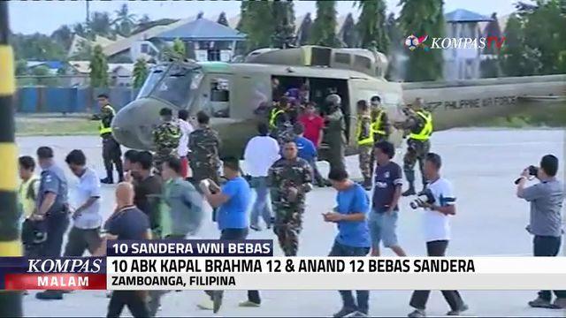 10 Sandera WNI Saat Tiba di Zamboanga