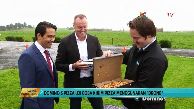 """Domino's Pizza Uji Coba Kirim Pizza dengan """"Drone"""""""