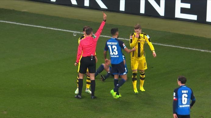 Hoffenheim 2-2 Borussia Dortmund: Kartu Merah Reus