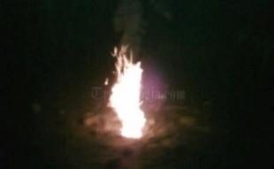 Semburan lumpur di purworejo mengeluarkan api