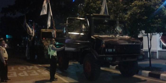 Nopol Tiga Mobil Unimog Milik Pendukung Prabowo Dicek Keasliannya