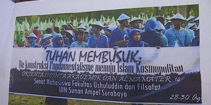 """Dosen UIN Surabaya Bela Mahasiswa Pembuat Tema """"Tuhan Membusuk"""""""