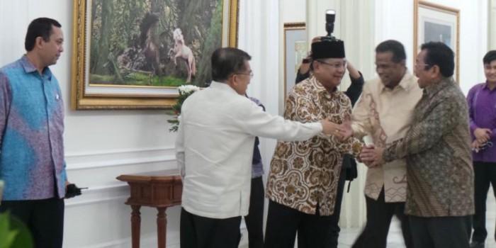 Temui JK, Prabowo Sampaikan Permintaan Maaf
