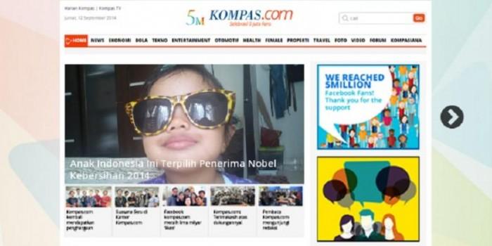 Facebook Kompas.com Tembus 5 Juta Likes
