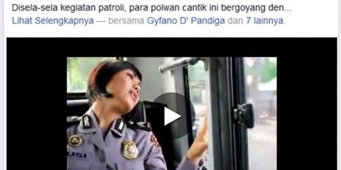 """Video Polwan NTB Berjoget Lagu """"Sakitnya Tuh di Sini"""" Dapat Acungan Jempol"""