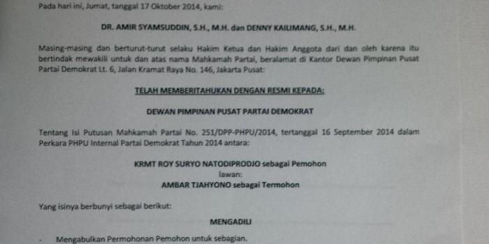 Demokrat Pecat Ambar Tjahyono, Roy Suryo Melenggang ke Senayan