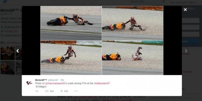 Foto-foto Marquez Kecelakaan pada Latihan Keempat, Sabtu