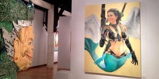 """KOMPAS.COM/HERU MARGIANTO Lukisan """"Susi Duyung"""" karya Hari Budiono yang dipamerkan di Bentara Budaya, Jakarta."""