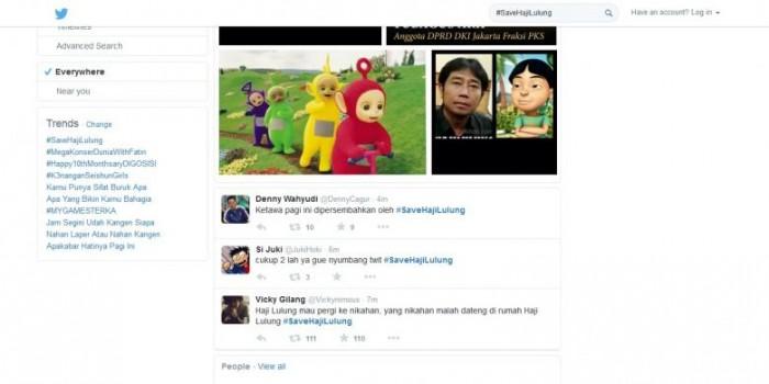 "#SaveHajiLulung ""Ngetop"" Jadi Trending Topics Twitter di Jakarta"
