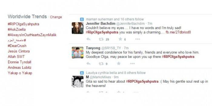 """#RipOlgaSyahputra Jadi """"Trending Topic"""" Dunia"""