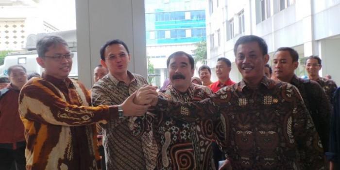 Salam Komando Damai ala Ahok dan Ketua DPRD