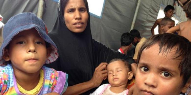 Kisah Anak-anak dan Perempuan Rohingya yang Terdampar di Aceh