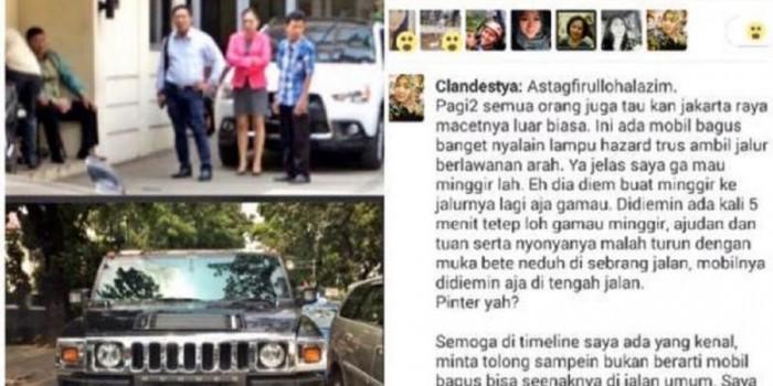 Ini Pengakuan Pemilik Mobil Hummer yang Melawan Arah