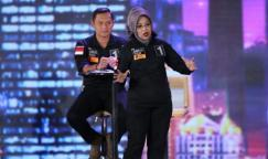 Calon wakil gubernur DKI Jakarta nomor pemilihan satu, Sylviana Murni, ketika tampil dalam debat ketiga Pilkada DKI 2017, Jumat (10/2/2017).